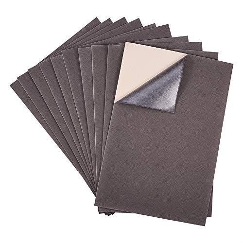 BENECREAT 20PCS Tessuto in Velluto Lenzuolo in Tessuto appiccicoso Backsheets Adesivi, Foglio A4 (21cmx30cm), Resistente e Resistente all'Acqua Grigio Scuro
