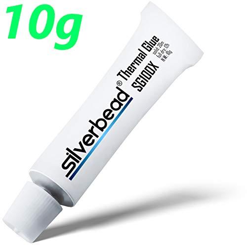 Silverbead Wärmeleitkleber Thermal Glue Adhesive [SG100X] [10g] Wärmeleitpaste klebend | geeignet für Heatsinks Kühlkörper LED VRAM VRM SMD CPU GPU SMD IC SSD Chipsatz Steuerplatinen und Elektronik