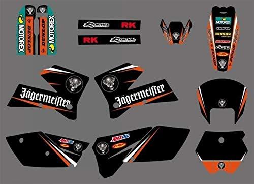 BTZHY Abziehbild-Aufkleber Motorrad for KTM SX 125 250 380 400 520 2005 2006 Graphics Bakcgrounds Aufkleber Zubehör New Deisgn heißen