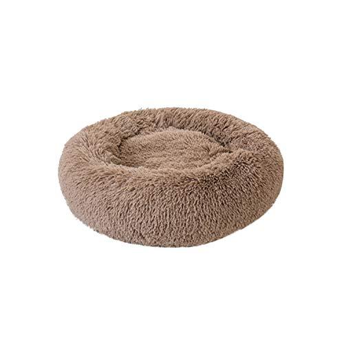 Dogs Pet Litter Deep Sleep PV Cat Litter Sleeping Bed Pet Products Supplies,Khaki,L