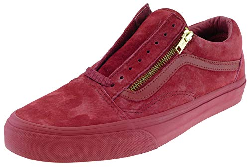 Vans Old Skool Zip Classics W&B red Dahlia, Schuhgröße:46.0 EU / 12.0 US / 11.0 UK