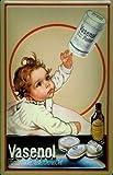 Los niños Vasenol de polvo diseño de escudo de Metal Tin Sign de chapa 20 x 30 cm