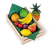 Erzi 28101 Sortiment Obst aus Holz, Kaufladenartikel für Kinder, Rollenspiele