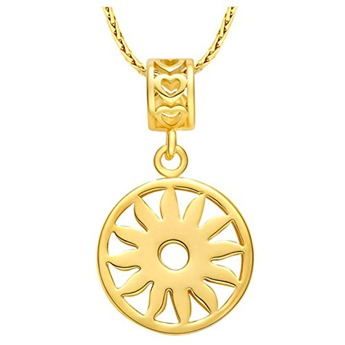Beydodo Colgante Chapado Oro,Colgante Mujer Oro Flor