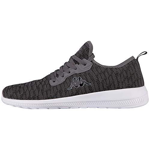 Kappa Unisex-Erwachsene Gizeh Sneaker, Schwarz (1116 Black/Grey), 43 EU