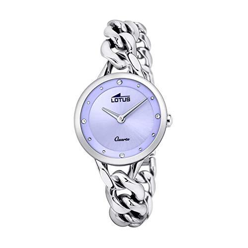 LOTUS Reloj Modelo 18721/2 de la colección Trendy, Caja de 30 mm Azul con Correa de armys Acero para señora