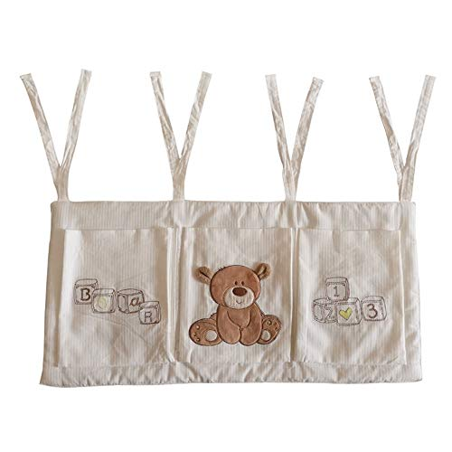Peng Sounder-bb Organisateur de Table à Langer à Suspendre Organisateur de pépinière de bébé for vêtements à Couches Jouets Sac de Rangement Suspendu 3 Poches lit de Chevet pour Berceau