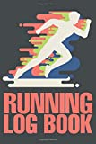 Running Log Book White Silhouette Of A Runner For Woman Or M