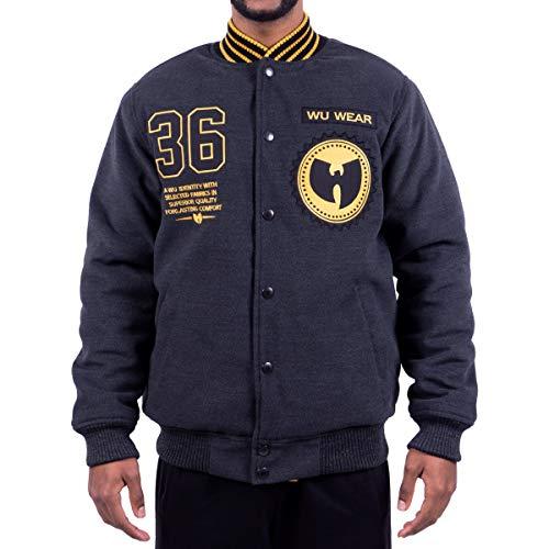 WU Wear 36 Symbol Jacket, Veste, Urban Streetwear Veste Ville, Hip Hop Blouson, Veste Homme, Couleur Taille XXL, Couleur Anthrazit