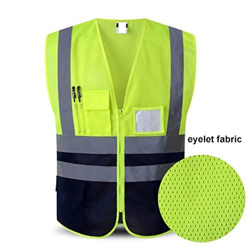 Vest reflecterende veiligheid zichtbaarheid reflecterende vest motorfiets sport outdoor reflecterende veiligheid kleding meerdere zakken XL Paars