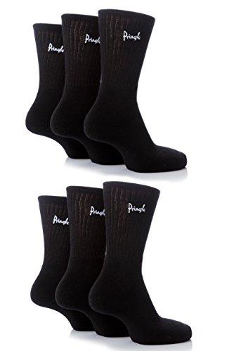 Mens 6 Pair Pringle Full Cushion Sports Socks - Black 7-11