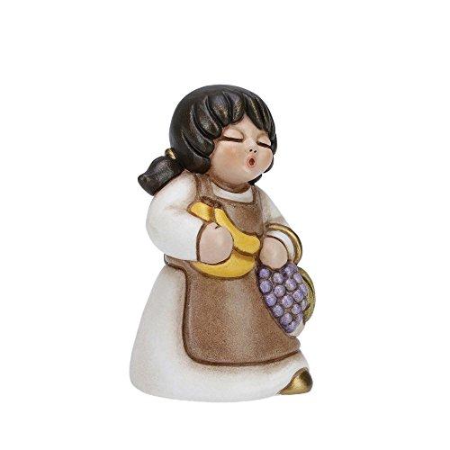 THUN® - Donna con Frutta - Versione Bianca - Statuine Presepe Classico - Ceramica - I Classici