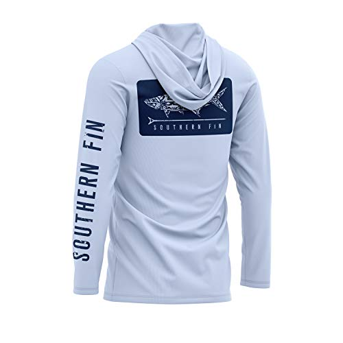 Performance Fishing Hoodie Shirt for Men Women UPF UV 50+ Lightweight With Hood (X-Large, Arctic Blue)