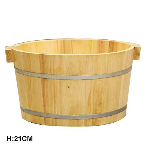 FAP Pedicure zwembad 21C Volwassen voetbad Home Body Drankemmer geurende dennen voetmassage vaten hout voetbekken, houtkleur