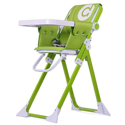 YULAN Silla de Comedor para niños Multifuncional Plegable portátil Silla de Comedor para bebé Silla de bebé Mesa de Comedor para bebé (Color : Green)