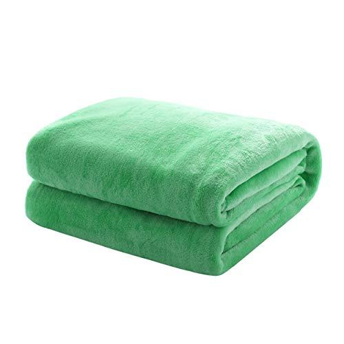 Mixibaby Kuscheldecke Flauschige extra weich und warm Wohndecke Flanell Fleecedecke, Falten widerstandsfähig/Anti-verfärben als Sofadecke oder Bettüberwurf, Größe:240 cm x 270 cm, Farbe:Apfelgrün