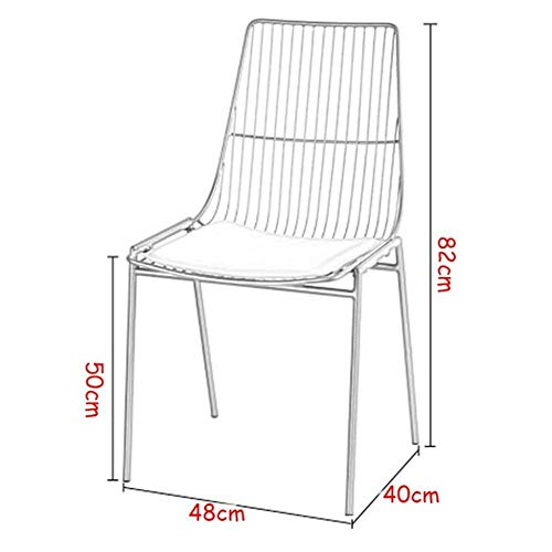 Feng Ergonomische bureaustoel Metalen Eetstoel Vrije tijd Gecapitonneerde Armless Receptie Stoel met Metalen Benen Zijstoel Make-up Stoel Lounge Koffiestoel