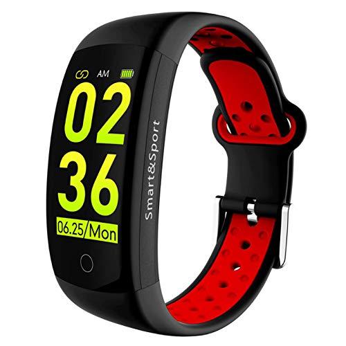 LTLJX Inteligente Pulsera de Actividad,Monitores de Actividad Reloj,Pantalla Pulsómetro Fitness Tracker, Pulsera Smartwatch con 0.96 Pantalla Color con iOS y Android,Rojo