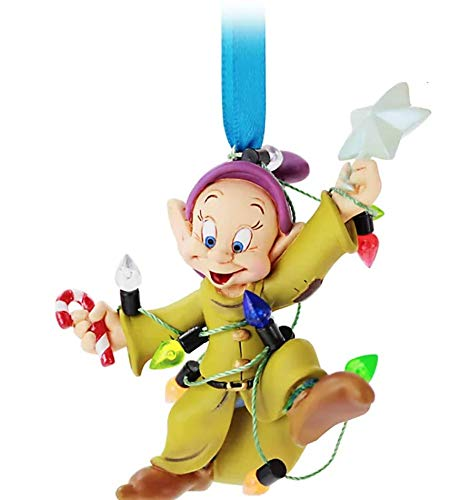 Disney Store Dopey Festive Hanging Ornament - Wrapped in fairy lights