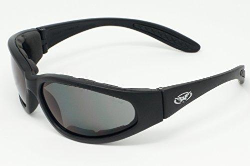 Global Vision Motorrad Rundum Sonnenbrille mit Eva-Schaum Futter und bruchsicher Anti Beschlag Gläser mit kostenlosem Mikrofaser Aufbewahrungstasche.