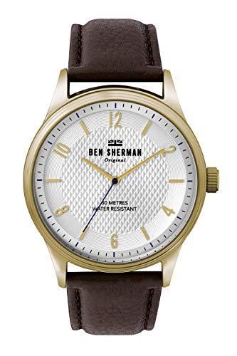 Ben Sherman Herren Analog Quarz Uhr mit Leder Armband WB025TG