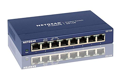 Netgear GS108UK Switch (8-poort, 10/100/1000 GB)