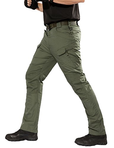 YFNT Impermeabile Pantaloni Tattici Militari Uomo Ripstop Pantaloni da Viaggio Trekking, Pantaloni da Lavoro Uomo per Uso Stagioni Casual