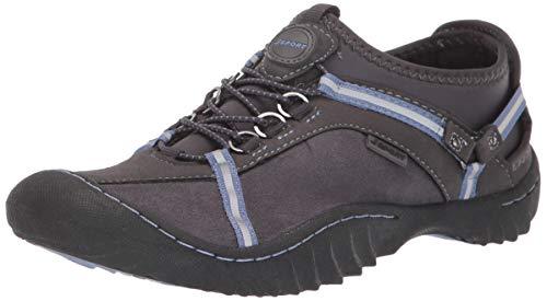 JSport by Jambu Women's Tahoe Ultra Sneaker, Charcoal/Dusty Blue, 6 M US