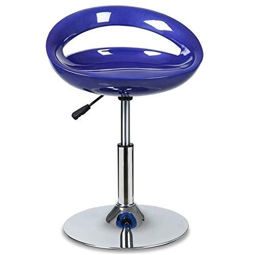 Moderne verstelbare zwenkarruk 360 ° vrije rotatie hoge stoel vrijetijdsbarkruk barkruk voor woonkamer keuken restaurants cafés bars blauw