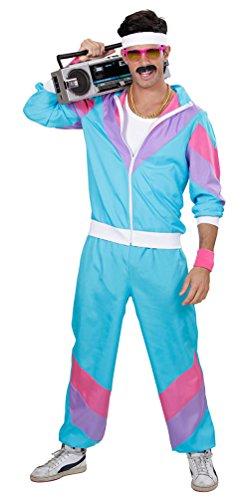 Karneval-Klamotten 80-er Jahre Kleidung Herren-Kostüm New Kids Assi Proll Kostüm 80s Joggingjacke und Jogginghose