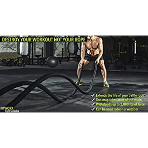 Battle Rope Anchor Strap Kit With Bonus Battle Rope Workout Guide - FitWorx By FirstChoice