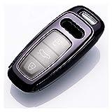 fleeting time GaoHR - Funda protectora para llave de Audi A3 2021 A6L A7 A8 Q8 E-tron C8 D5 2019 2020 Car Key Cover Holder Skin HR (Nombre del color: negro, tamaño: especificaciones)