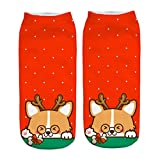 Cute Christmas ankle socks cotton no show socks women autumn winter warm flats socks wonderful Gift for children woman