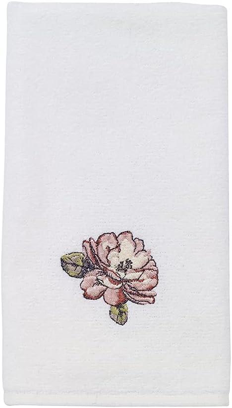 Avanti Charlotte Mall Linens Butterfly trust Garden Embroidered Fingertip Collection