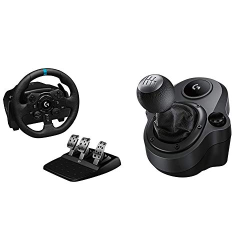Logitech G923 Racing Wheel and Pedals for Playstation PS4 and PC, TRUEFORCE 1000 Hz Force Feedback + Driving Force Shifter for G29 and G920