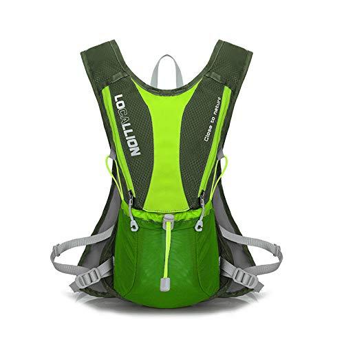 Simmia Sport Zaino Trekking,Zaino per bici,Zaino per bicicletta,Ciclismo Zaino,Borsone da corsa per lo sci da corsa cross-country ultra leggero borsa da spalla aderente da maratona, verde militare