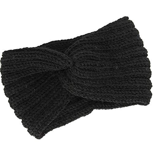 PXSTYLE Cross Nine Bars Gestricktes Wollstirnband für Frauen und Mädchen