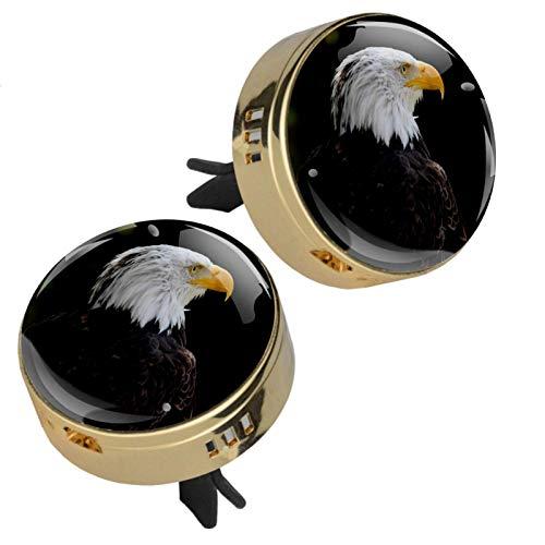 Z&Q Auto Diffuser Luftbefeuchter für Auto Tierischer schwarzer Adler Auto Lufterfrischer zum Nachfüllen Aromatherapie Clip mit 4 PE zusätzlichen Pads 33.8mmX46.4mm