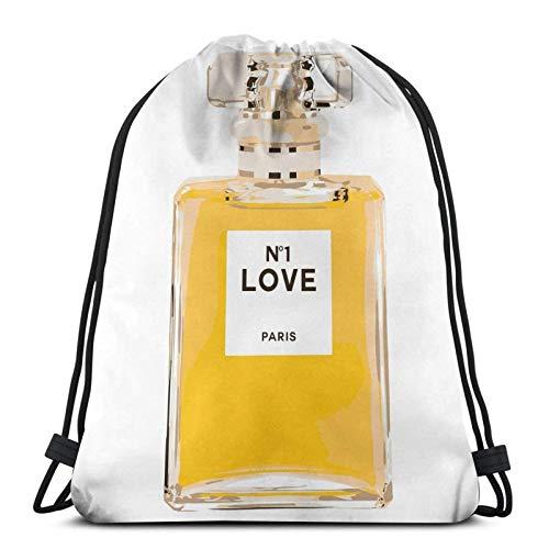 Botella de perfume francés Drstring mochila gimnasio saco sólido paquete cincha Sinch Sack Sport String Bag con bolsillo