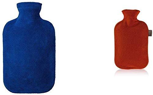 Fashy 6530 54 2007 - Bolsa de agua caliente con funda de fieltro - color azul - 2 l