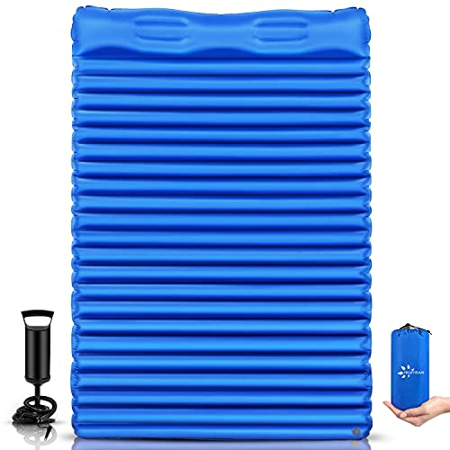 FRUITEAM Double Sleeping Pad for Camping Inflatable Sleeping Mat for Backpacking 2 Person Camping...