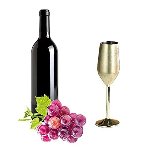 Sektgläser Edelstahl Champagnergläser 304 Edelstahl Weinkelch Champagnergläser Trinkbecher 220ML Wine Sektgläser Weinkelch für Bar Party Bankett