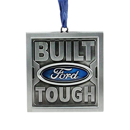 """Northlight 3"""" Brushed Nickel Plated Built Ford Tough Christmas Ornament"""