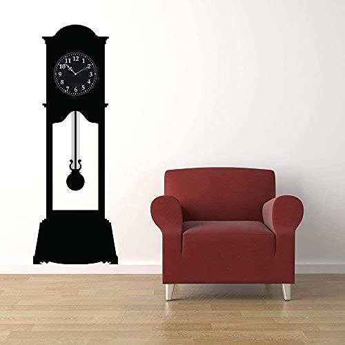 Adhesivo decorativo para pared, diseño de abuelo, tamaño grande, rústico, tamaño grande, para decoración del hogar, dormitorio, pared, padre, hora, reloj de cara, cabaña