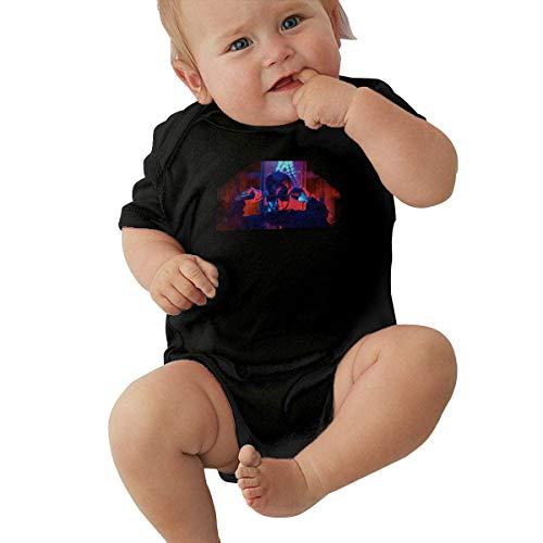 Body de bebé de Manga Corta Unisex Anuel-AA Unisex Baby Climbing Suit Jersey Bodysuit Short Sleeve T-Shirt Black