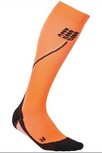 Cep Progressive+ 2.0 Chaussettes de course nocturne pour homme Taille V Orange/noir