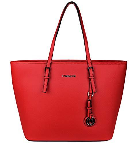Tom & Eva Shopper Tasche Handtasche Rot TE-Jet Set Travel