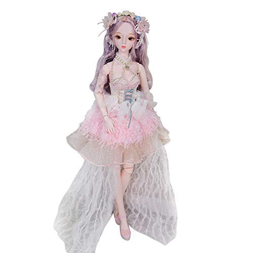 Fortune Days Original Design 60 cm Dolls(with Gift Box), Dream Fairy Series 26 Joints Doll, Best Gift for Girls (Klaire)