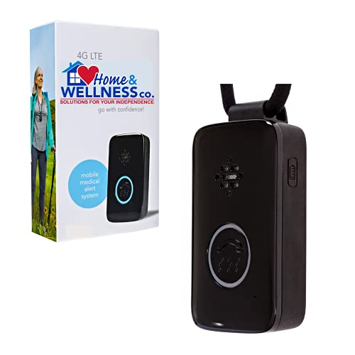 Senior Safety Medical Alert Device with Fall Detection, GPS Location with Verizon LTE Cellular, 4 Months Service Included