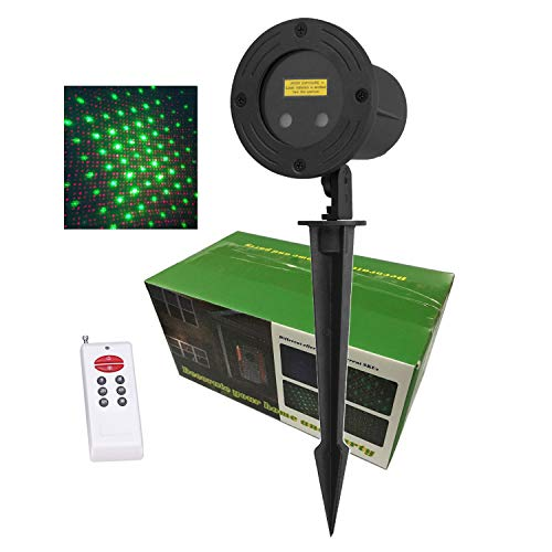 Laser Christmas Lights Outdoor RGB Moving Stars Projector LSIKA-Z Remote controllable Red Green and Blue Christmas Laser Lights for Holiday Party House Garden Decoration (RGB)